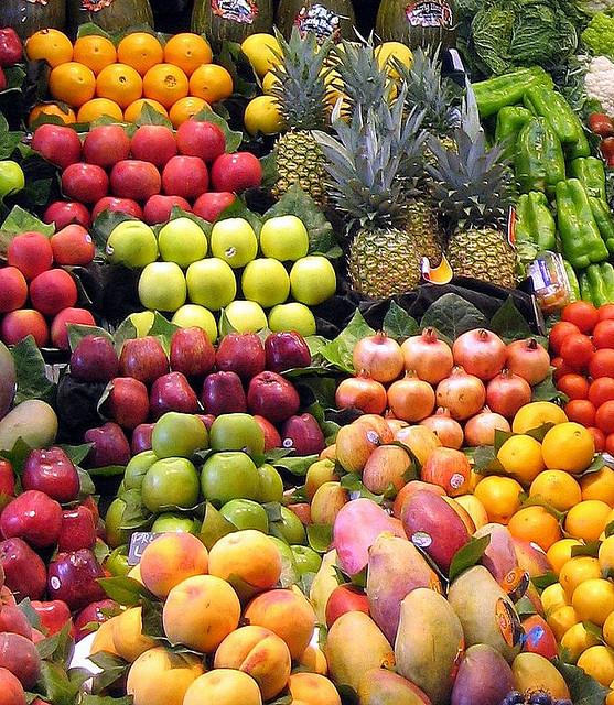 Kleurrijk groente en fruit